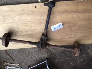 ACAW29 - Complete rear axle from 1933 box saloon has little play complete and untouched very clean need a minor repair to one backplate