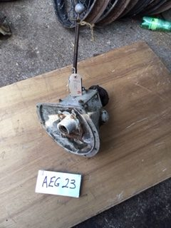 AEG23 - Early 3 speed gearbox complete with lid and early short gear-lever all in reasonable condition