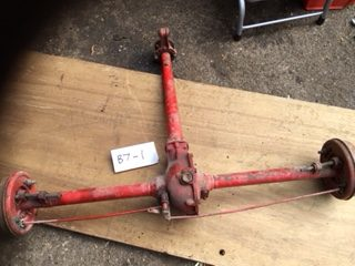B7-1 - Big 7 back axle complete very clean and untouched