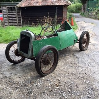 V3 1926 barn find Austin seven special built as a grass track racer, 1923 engine No documents but comes with a club dating certificate