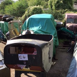 V7 - New unused Austin 7 chummy body old unused stock was stored under sheet and so has had minor repairs to floor , similar new would now cost £6 to £8 thousand