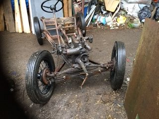 V8 - 1935 mk 1 Ruby rolling chassis with later girling front axle and solid mounting engine and gearbox comes with v5 c (latest registration document)