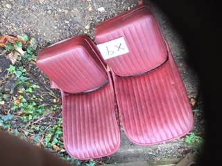 X9 - pair of reupholstered Ruby seats not the best job but clean and sound need minor fettling( regluing in places).